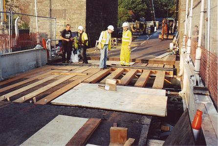 Suspension Bridge road timbers